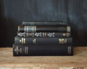 Vintage Book Stack - Shades of Black - alittlebitdusty