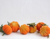 Needle felted pumpkin - Set of Three, the halloween & thanksgiving home decor, eco decorations.