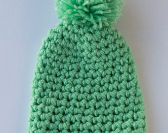 SALE: Kids Teal Beanie with Pom Pom