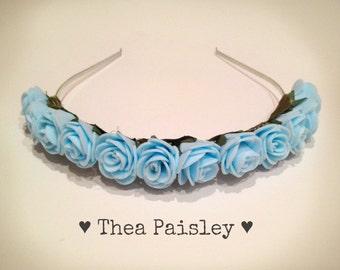 Flower Crown : Blue Rose / Pastel goth, Pastel grunge