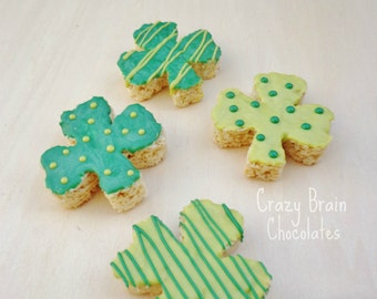 St. Patrick's Day Rice Krispie Treats (12)