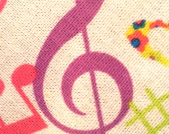 Music Luggage Tag - Colorful Treble Clef
