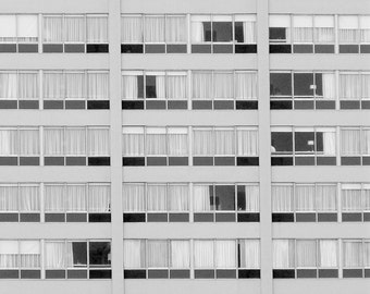 IN YOUR ROOM   Modern abstract art print   street photography   black and white urban photo   geometric architecture print   modern decor
