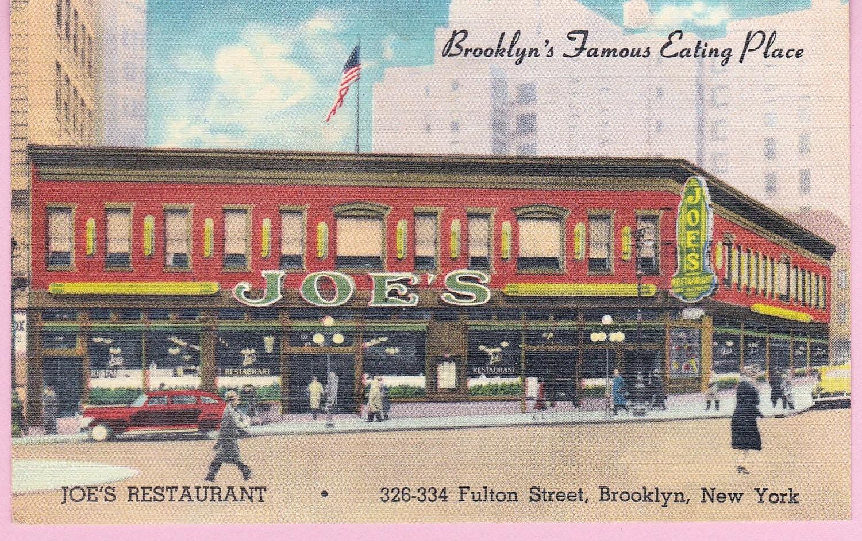 Italian Foods Near Me: Ca. 1940s Joe's Restaurant Brooklyn NY Linen