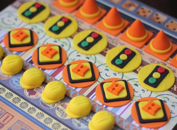 Construction Themed Fondant Cupcake Toppers Perfect For
