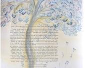 Custom made ketubah- the tree of life -1--