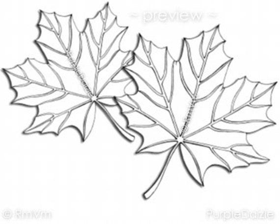 Printable Color Page Digital Coloring Sheet Zen Doodle Maple Leaves ZenDoodle Template Autumn Leaf Line Art JPEG File Instant Download