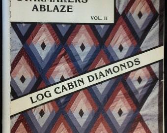 Log cabin diamonds | Etsy : log cabin diamond quilt pattern - Adamdwight.com