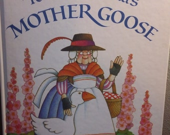 Tomie dePaola's Mother Goose vintage 1985 hardcover illustrated children's book