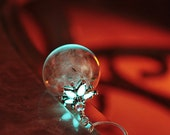 Dandelion seeds necklace GLOW in the DARK in hand blown glass bead