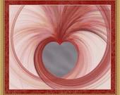 Fractal Cross Stitch Pattern Swirly Heart Pink Patterns Instant Download pdf Cross Stitch Design