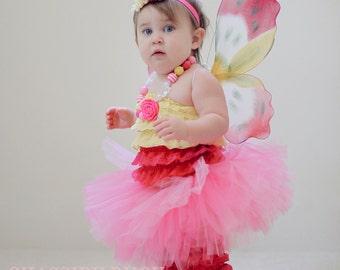 "Butterfly Halloween Costume - ""Tutu Cute"" Butterfly - Girl Toddler Baby Infant Newborn Halloween Costume"