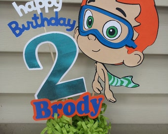 Large Personalized bubble party centerpiece any character