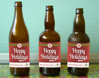 Custom beer bottle labels for Christmas and other special events