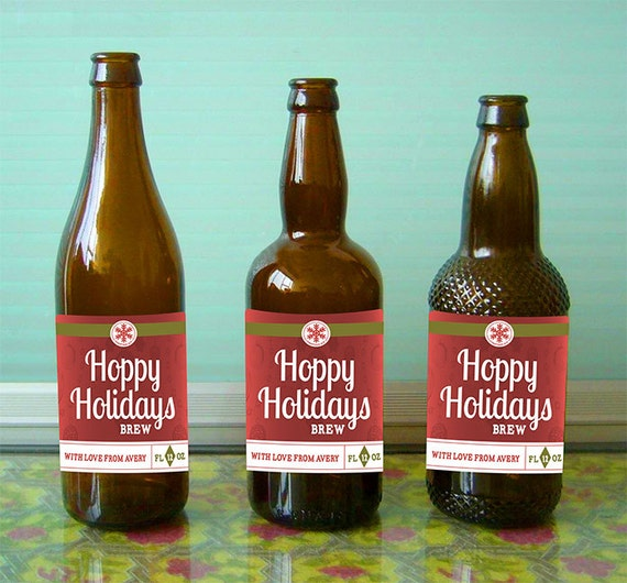 Personalized Christmas Beer Labels