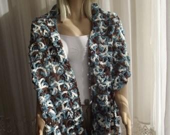 Cozy - Crochet Wrap Stole / Crochet Shawl / Wedding Shawl / Bridal Shawl / RECTANGULAR SHAWL / Thick Shawl / 50% OFF !!!