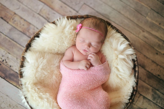 Baby Headbands, Newborn Bows, Newborn Headband, Infant Bows, Infant headband, Skinny Adjustable Flower Headband by Chloe Reese