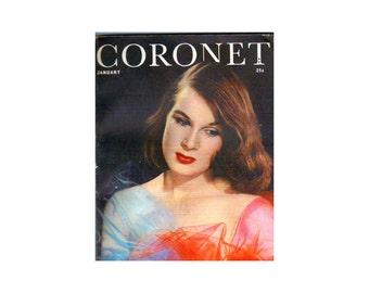 1940s Coronet Historical WWII Magazine Pin Up Girls Bombshells Coronet Magazine January 1941