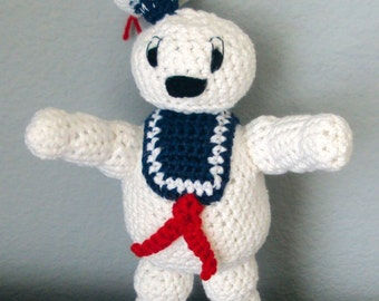 Crocheted Stay Puft Marshmallow Man - Ghostbusters Inspired Doll / Plush / Toy