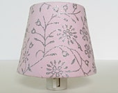 Light Pink Night Light Shade - Blush Pink and Gray Nursery Decor - Baby Pink Nursery Night Light Lighting - Pink Nightlight
