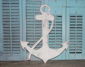 Wooden Anchor Sign Wall Decor Nautical Decor Beach Cottage
