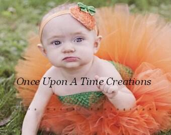 Little Pumpkin Tutu or Dress - Newborn 3 6 9 12 18 24 Months 3T 4 T 5 6 Autumn First Birthday Little Girls Halloween Costume - Ready To Ship