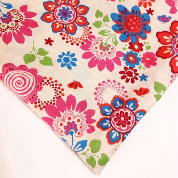 Floral print cotton fabric baby nursery kids room decor for Floral nursery fabric