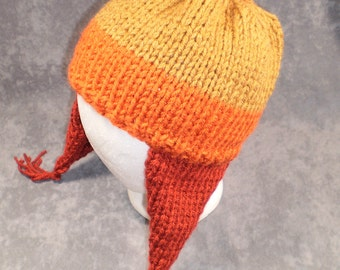Sci Fi Hat: Wool-Free Firefly Inspired Cunning Hat in Yellow, Orange and Rust