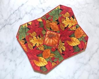 Fall Autumn Leaves Fabric Bowl