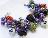 Good JuJu Charm Bracelet - Cluster Charm Braclet - Day of the Dead, Halloween, Hoodoo, Unique Jewelry - Gift Ideas