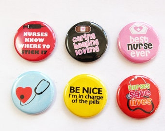 Magnets for nurse, Nurses week, Nurse magnets, Gift for Nurse, button magnets, Kitchen Magnets, Nurse, Nursing, stocking stuffer (3308)