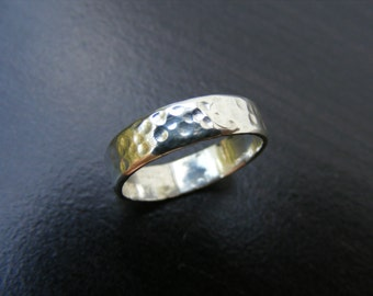 15% Off Sale.S137 Made to Order...New Sterling Silver Hand Hammered Ring