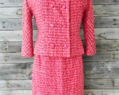 Vintage Stewart's of Baltimore Pink Three Piece Skirt Suit