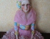 RESERVED Large Antique Doll