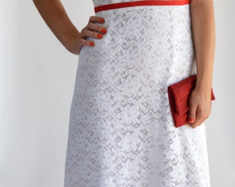 "Wedding Dress ""Windrose"" white, evening dress, lace"