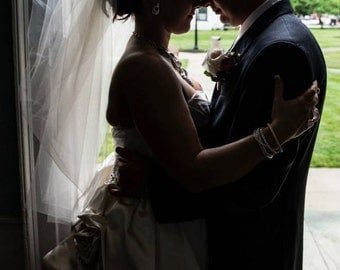 As seen in Southern Weddings Magazine Bubble veil Ivory bubble veil with train  Poofy bubble veil bridal veil custom made
