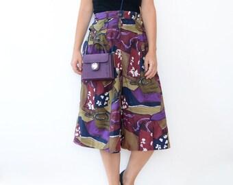 Vintage purple 90s gaucho skirt pants
