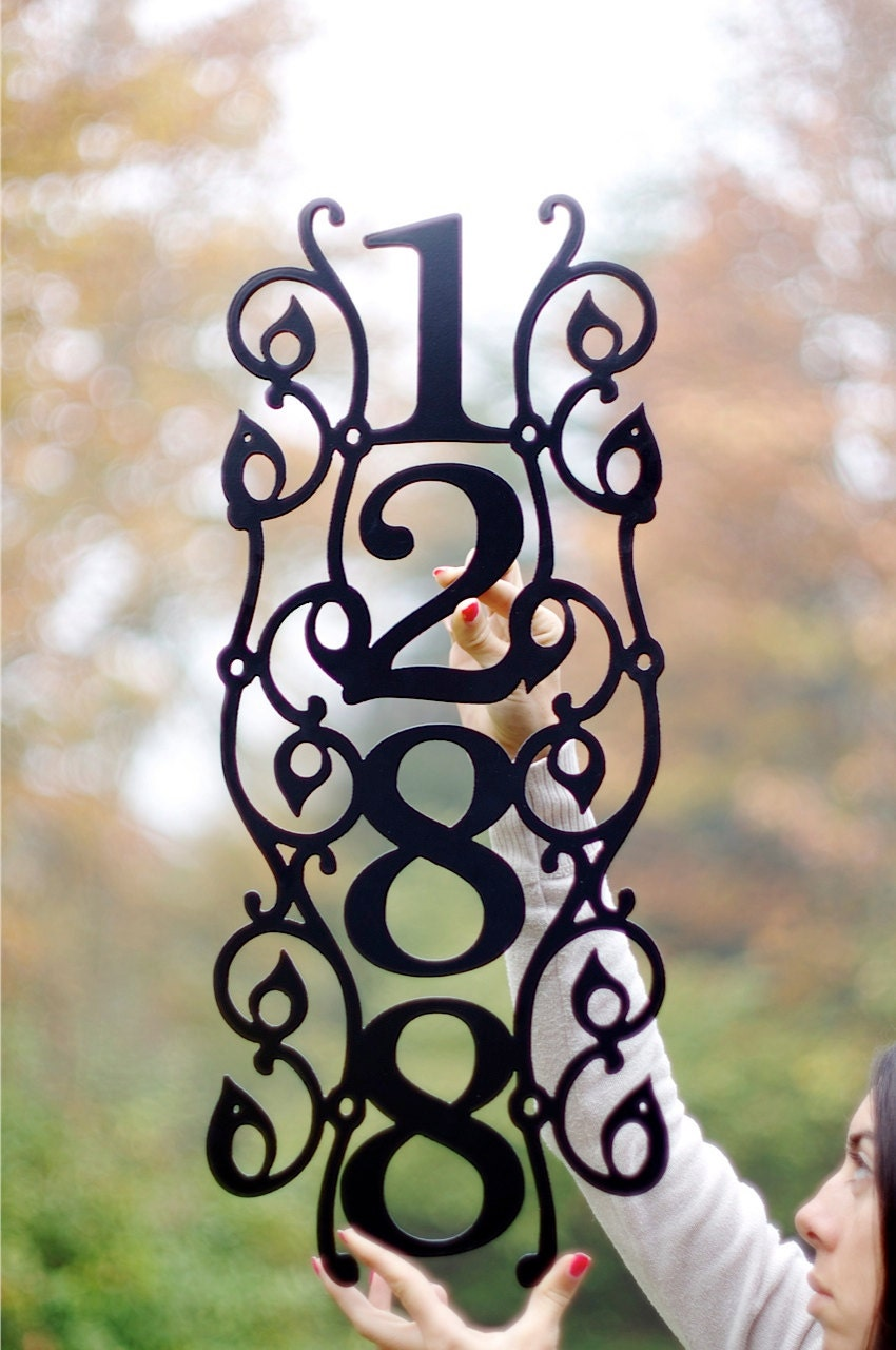 Vertical Vine Modern House Numbers. ddress by GlamorousFindings - ^