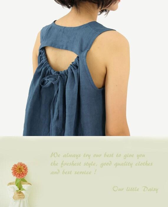 Linen Dress Womens Dresses Special Back Sundress Summer Dress Lace Dress