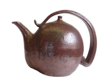 Wabi-sabi Sculptural Teapot. Vintage Japanese. Ceramics. Japanese Pottery. Tea Kettle. Tea Ceremony. Sado. Rustic. Clay. Sculpture.