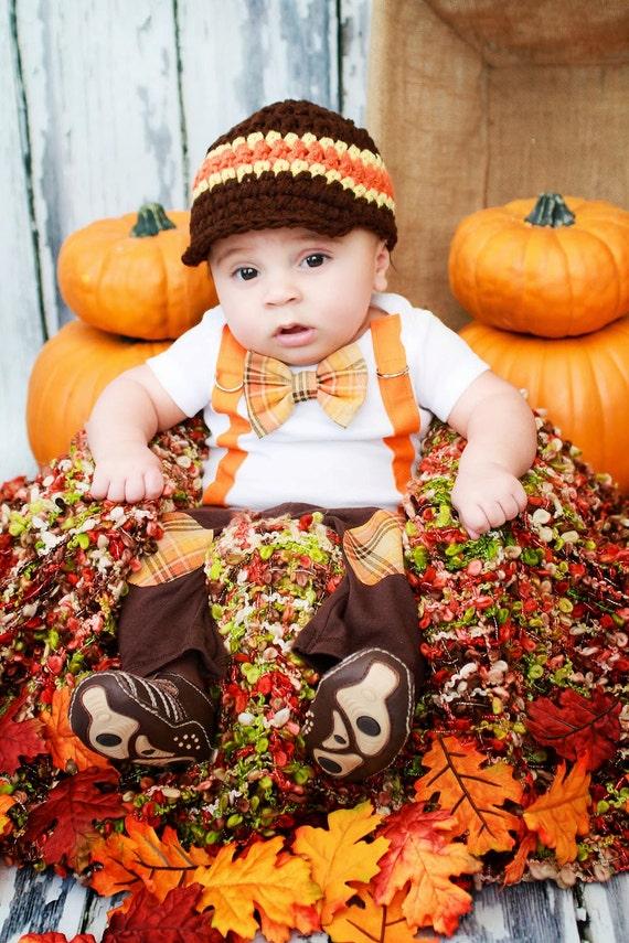 Items Similar To New Baby Boy Tie Bodysuit With Suspenders
