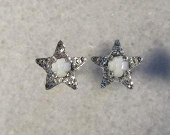 Silver Star Plugs Small Sizes Flesh Tunnel Handmade Acrylic Gauges 2mm 12g 3mm 8g  4mm 6g