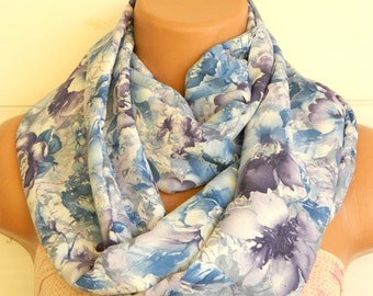 infinity scarf, Nomad fabric scarf,Infinity Scarf,Blue and multicolored scarf,Loop Scarf,Circle Scarf,.Ultra soft..Nomad Tube...