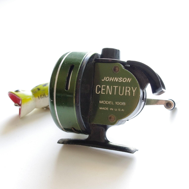 Vintage Johnson Century 100b Fishing Reel Green