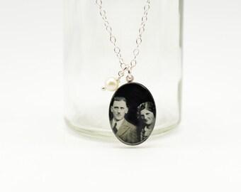 Custom Photo Necklace | Custom Photo Pendant | Mothers Day Jewelry | Anniversary Jewelry | Keepsake Necklace | Memorial Jewelry