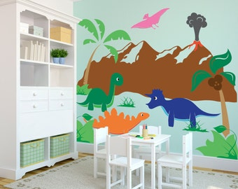 Make Way For Ducklings In A Row Wall Decal Custom Vinyl Art - Custom vinyl wall decals dinosaur