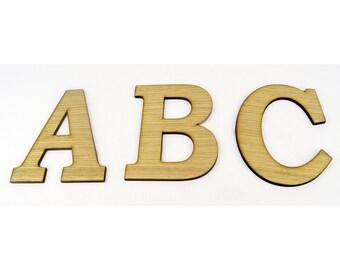Oak Veneer XXL Alphabet Wood Letters / Wall Hanging / Nursery Decor / Alphabet Wall