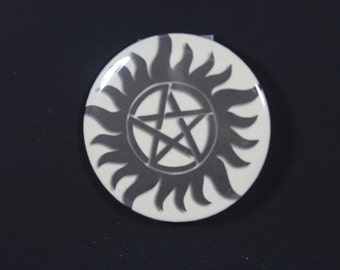 """Supernatural 2.25"""" or 1.5"""" Pin-back Button"""