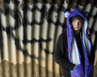 Animal Hood - Blue Spikey Bear Skoodie