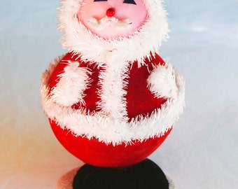 1960s Vintage Santa Claus Small Gift Holder Russell Stover Candies Box Perfect for Giving a Special Christmas Holiday Gift  - Made in Japan